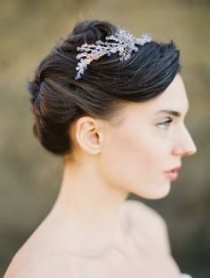 Crystal Headpiece Lavender Flower Crystal от MelindaRoseDesign