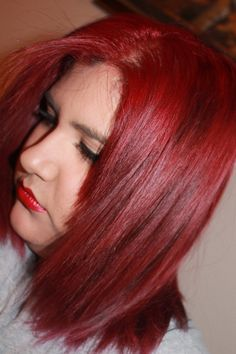 How to dye your hair bright red and how to maintain it! L'oreal Excellence HiColor Highlights for Dark Hair Only in Magenta