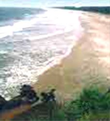 Payyambalam   2 km from Kannur town, Kannur district, North Kerala. Quiet, secluded, this beautiful stretch of sand and surf is the best locale for a relaxed evening.
