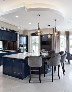Luxury Kitchen Design, Kitchen Room Design, Dining Room Design, Home Decor Kitchen, Kitchen Living, Home Kitchens, Kitchen Ideas, Modern Bathroom Decor, Apartment Interior Design
