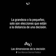 (60) Las dimensiones de la decisión...