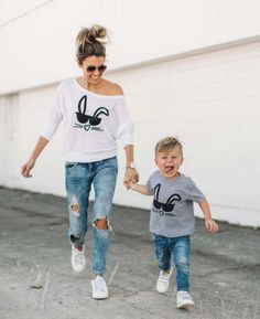 fb43ab4e1 38 Best Mother   Son Matching Outfits images