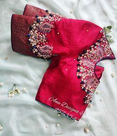 Wedding Saree Blouse Designs, Silk Saree Blouse Designs, Blouse Neck Designs, Blouse Patterns, Indian Blouse Designs, Wedding Silk Saree, Blouse Styles, Wedding Dress, Simple Blouse Designs