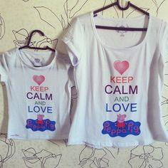 Tshirts Aju - Keep Calm and love Peppa Pig
