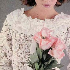 Tuisgemaak vir die jong bruid Sewing Clothes, Clothing Patterns, Crochet Patterns, Ruffle Blouse, Lace, Women, Fashion, Moda, Clothes Patterns
