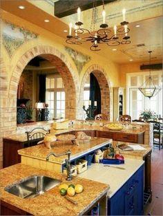 Preciosas cocinas de estilo toscano