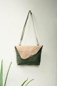 Minimal Hand Bag, Leather cross body bag, Purse with flap, Small messenger bag, Leather bag, Leather Travel Purse