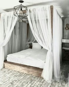 36 Nice Romantic Canopy Bed Design Ideas You Must Have - Creating a romantic canopy bed does not require a professional designer. A canopy bed adds elegance, sophistication and most of all; it gives a romant. Bedroom Sets, Home Decor Bedroom, Girls Bedroom, Bedroom Furniture, Bedding Sets, Bamboo Furniture, Bedding Decor, Furniture Dolly, Furniture Layout