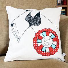 best in show dog cushion by poppy treffry