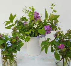 Hedgerow wildflowers from my garden, arranged to celebrate Earth Day.