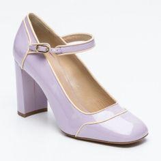 Escarpins, cuir verni   violet   talon : 9 cm