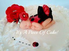 Baby Shower Ladybug Cake Buttercream
