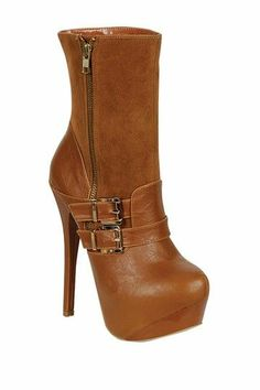 LILIANA Reseda 28 High Heel Buckle Bootie