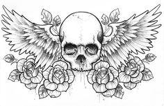 Ideen Zeichnung Tattoo Skull Sketch - DIY Garden Home Wolf Tattoos, Skull Tattoos, Body Art Tattoos, Sleeve Tattoos, Chest Tattoo Sketches, Drawing Sketches, Drawing Ideas, Sketch Tattoo, Sketch Ideas