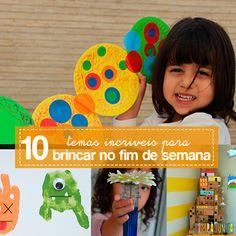 Você não ter problemas de falta de ideias do que fazer com as crianças com esta lista de 10 temas para brincadeiras acompanhadas de sugestões de atividades.
