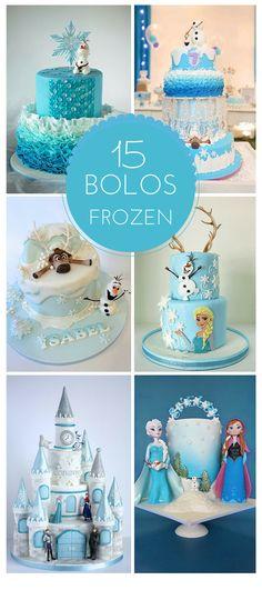 Polka Dot Festas: 15 Bolos Impressionantes para festa Frozen!