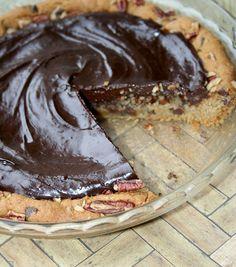 Four Ingredient Ganache Cookie Pie — CakeSpy