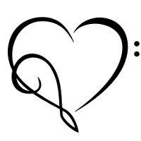 Tribal tattoos: Tattoo of Musical heart,Love for music tattoo ... - ClipArt Best - ClipArt Best