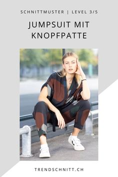 Jetzt das Schnittmuster für den Jumpsuit mit Knopfpatte als PDF downloaden und sofort mit diesem Allrounder als Outfit zum Selbermachen starten. Der Anzug ist vielseitig kombinierbar: ob chic am Abend oder lässig in der Stadt. Ein perfektes und lässiges Outfit für viele Gelegenheiten. Trends, Outfit, Diy Sewing Projects, Diy Fashion, Sew Simple, Outfits, Kleding, Clothes, Beauty Trends
