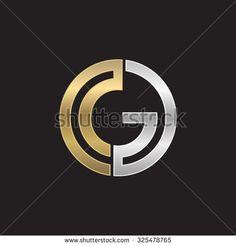 G initial circle company or GO OG logo black background