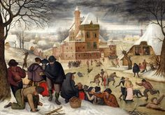 Winter landscape with skaters Pieter Bruegel the Younger (Brueghel)