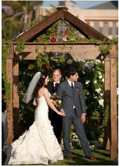 Wedding Chuppah. reminds me of a birdhouse to get married in.