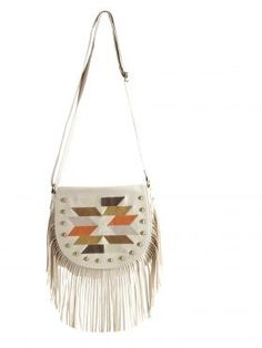 Matalan Bag - Aztec Fringe Saddle from Matalan Fashion SS 2012