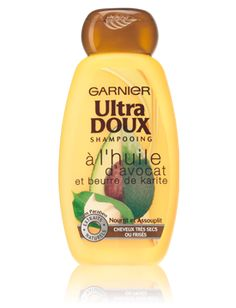 Ultra Doux shampoing à l'huile d'avocat et beurre de karité pour cheveux très secs ou frisés - GARNIER
