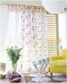 Image result for mismatched patterned sheer curtain
