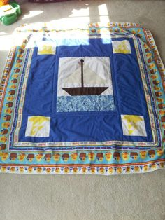 Anchor's Away! - Jaxson's quilt is completed! Go me!