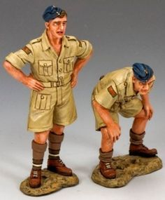 World War II British Royal Air Force RAF050 Desert Erks - Made by King and Country Military Miniatures and Models. Factory made, hand assembled, painted and boxed in a padded decorative box. Excellent gift for the enthusiast.