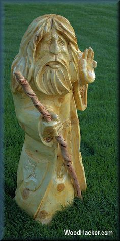 Chainsaw Carved Wizards | Re: show of early works