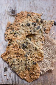Crackers rustici all'acqua | MIEL & RICOTTA