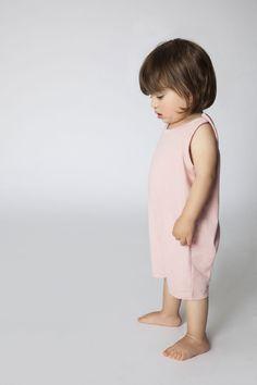 MINIMALIST - SUMMER #Light Pink #ButtonOverall