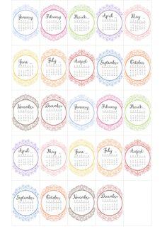 Keyring Calendars – updated for 2017