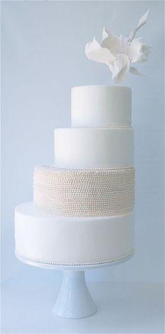 Wow - beautiful and unique - modern wedding cake inspiration from magpie's cake merrimentevents.com #modernweddingcakes