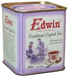 Edwin tea tin