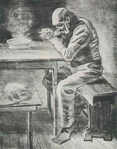 """Vincent van Gogh - """"Prayer Before the Meal (1882)"""""""
