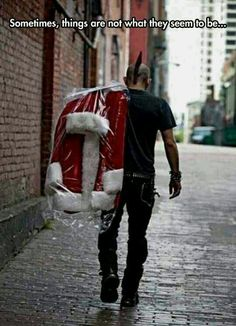 Never judge. :) my kind of Santa.