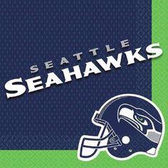 Seattle Seahawks Napkins | x 16