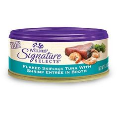Wellness Signature Selects Grain Free Flaked Skipjack Tuna with Shrimp Entree Canned Cat Food 53 oz Case of 24 * Read more  at the image link.