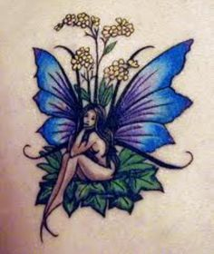 Fairy tattoo in color