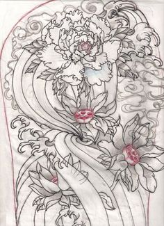 Small Filler Japanese Style Tattoo | japanese sketch for work - flower tattoo