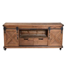 Stereo Cabinet, Media Cabinet, Tv Stand With Led Lights, Large Tv Stands, Oak Beds, Solid Wood Tv Stand, Find Furniture, Brown Wood, Modern Industrial