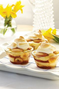 Caramelized Banana Pudding | From Quick & Tasty Banana Pudding to Banana Pudding Cheesecake, these twists on our favorite classic summer dessert will be the hit of the barbecue. In the South, bananas aren't just a side dish served with breakfast, or a healthy afternoon snack. They've earned their place as a staple of the Southern diet. Sliced and stacked on top fresh white bread that's smeared with creamy peanut butter, they become the centerpiece of a lunch box classic. Baked into…