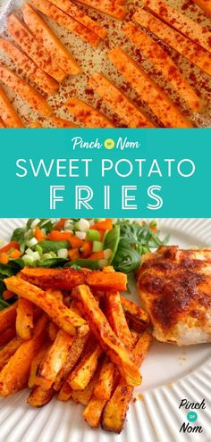 Why not switch up your chips with these Sweet Potato Fries Everyone loves chips and they are easy to incorporate into your weight loss plan with a few tweaks. Slimming Eats, Slimming World Recipes, Nutritious Snacks, Easy Snacks, Healthy Recipes, Yummy Recipes, Healthy Food, Snack Recipes, Yummy Food