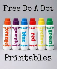 Free Do A Dot Marker Printables