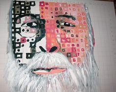 Step two, paint in beard before creating it in blocks © 2005 Kendrea Rhodes #kendreart