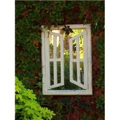 Illusion Garden Mirrors Double Opening Windows (Portrait) UK   Garden Mirrors. Outdoor Mirrors & Illusion Mirrors   Products