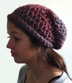 The Teens Crochet Slouchy Hat works up quick and easy. http://dearestdebi.com/the-teens-crochet-slouchy-hat
